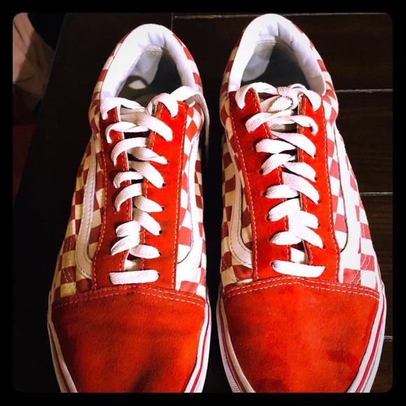 Redwhite Old Skool Checkered Vans